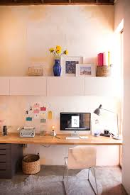 Wall Desk Ideas Mr Kate Built In Wall Desk On A Budget
