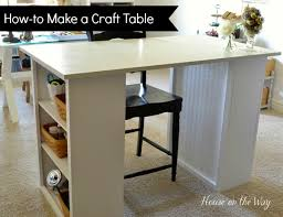 Craft Room Tables - how to make a craft table 6990