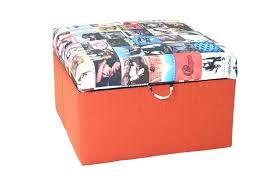 Orange Ottoman Awesome Orange Storage Ottoman Taptotrip Me