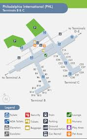 philadelphia international airport map travelnerd terminal c