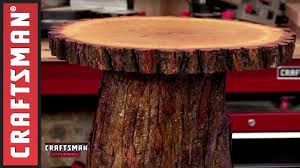 How To Build A Stump by How To Make A Wooden Cake Stand Craftsman Youtube