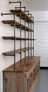 Industrial Looking Bookshelves by Book Case Pipes Wood Bookcase Made Of Steel Gas Piping And