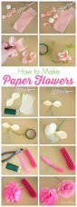 Making Of Flowers With Paper - how to make tissue paper flowers tissue paper tutorials and third