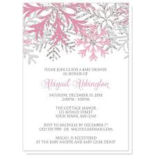 pink and silver baby shower snowflake pink silver baby shower invitations at artistically invited