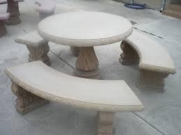 Outdoor Concrete Patio Round Concrete Patio Table Round Designs