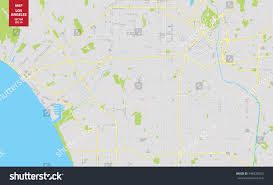 Los Angeles River Map by Vector Color Map Los Angeles Usa Stock Vector 548528023 Shutterstock