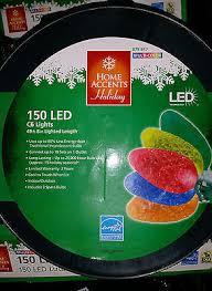 150 led c6 lights 150 light led multi colors c6 light set in spool christmas party