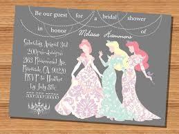 Princess Themed Invitation Card Disney Princess Bridal Shower Invitations Kawaiitheo Com
