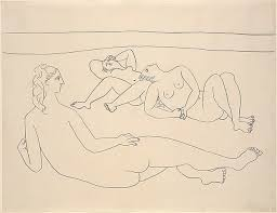 pablo picasso three bathers reclining by the shore the met