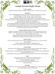 menu for brunch brunch buffet catering shore boston catering