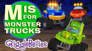 monster trucks videos on youtube monster trucks learn the alphabet abcs gigglebellies youtube