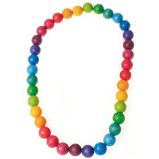 baby beads necklace images Grimm 39 s colorful wooden beads rainbow necklace for jpg