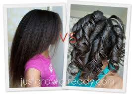 roller set relaxed hair air drying vs roller setting just grow already