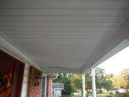 before picture of the old porch ceiling autumn tan hardie siding