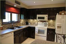 Kitchen Cabinets With Island Painted And Stained Kitchen Cabinets Drawes Using Black Iron Cup