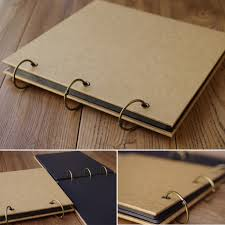 photo album paper new diy handmade retro kraft paper cover photo album