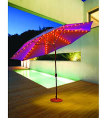 Patio Umbrellas With Led Lights Evening Patio Umbrellas Large Galtech 11 Auto Tilt