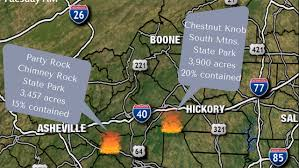 Western North Carolina Map Smoke From Wildfires Prompts Air Quality Concerns Across Charlotte