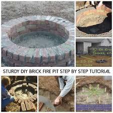 Brick Firepit Sturdy Diy Brick Pit Step By Step Tutorial Shtf Prepping