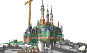 Cinderella Castle Floor Plan Shanghaî Disneyland Enchanted Storybook Castle Digital Artwork