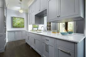 mirrored backsplash in kitchen kitchen narrow gray kitchen mirror backsplash one faucet