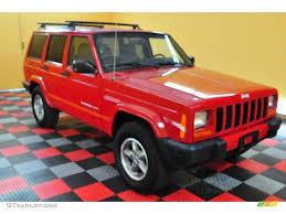 2000 flame red jeep cherokee sport 4x4 16031972 gtcarlot com