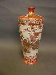 Japanese Kutani Vases A 19th Century Japanese Kutani Vase With Water Fowl And Phoenix