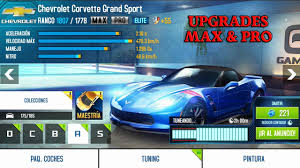 max corvette asphalt 8 corvette grand sport upgrade max pro