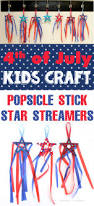 4th of july kids craft popsicle stick star streamers happiness