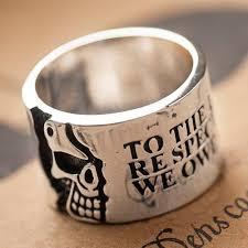 mens sterling rings images Men 39 s sterling silver skull wide band ring jpg