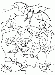 pokemon golem coloring pages for kids pokemon characters