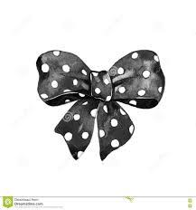 halloween bow ties watercolor illustration halloween black polka dot bows stock