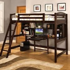 Bookcase Bunk  Loft Beds Youll Love Wayfair - Twin bunk beds with desk