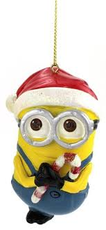 3 5 despicable me minion dave with santa hat