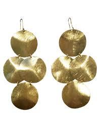 cd earrings emily big disc earrings in gold worn on get swank d swank