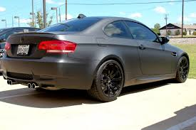 matte bmw matte black bmw car wrap dallas zilla wraps