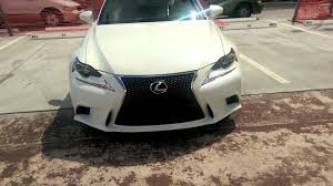 lexus white interior lexus is 250 f sport 2014 demo white with red interior youtube