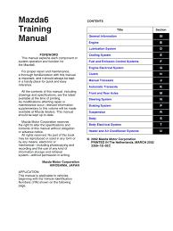 mazda 6 training manual motor oil piston