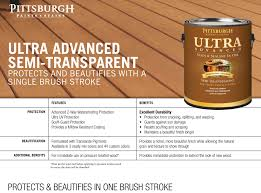 ultra advanced exterior stain semi transparent pittsburgh paints