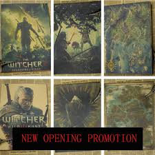 game posters the witcher wall home decoration painting vintage