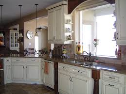 White French Country Kitchen Cabinets French Country Kitchen With Dark Brown Cabinets Others
