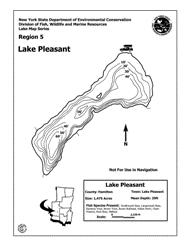 lake pleasant map lake pleasant nys dept of environmental conservation