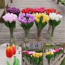big sale 5pcs tulip artificial flowers bouquet real touch flowers