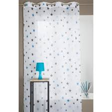 voilage chambre bébé voilage chambre enfant motif etoile bleu 140 x 280 cm achat