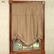 Chocolate Brown Valances For Windows Blackstone Tie Up Window Blackout Shade