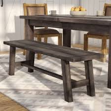 Find The Best Kitchen  Dining Benches Wayfair - Tables with benches for kitchens