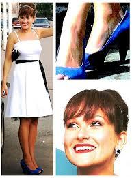 aljona kordo seppälä white cocktail dress zara blue heels