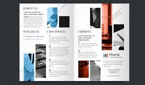 brochure template half fold brochure design moenia bi fold brochure template half