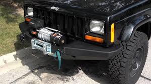 jeep xj smittybilt xrc front bumper u0026 quadratec q9000 winch