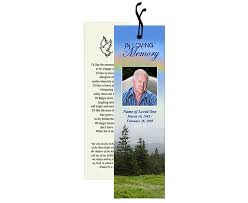 the funeral program site releases new templates for memorial bookmarks